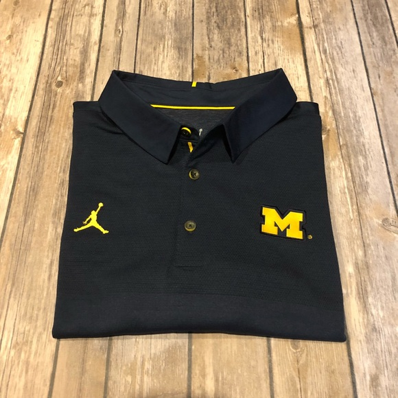a46842c1 Jordan Shirts | Nike Golf U Of M Navy Blue Mens Polo Shirt | Poshmark